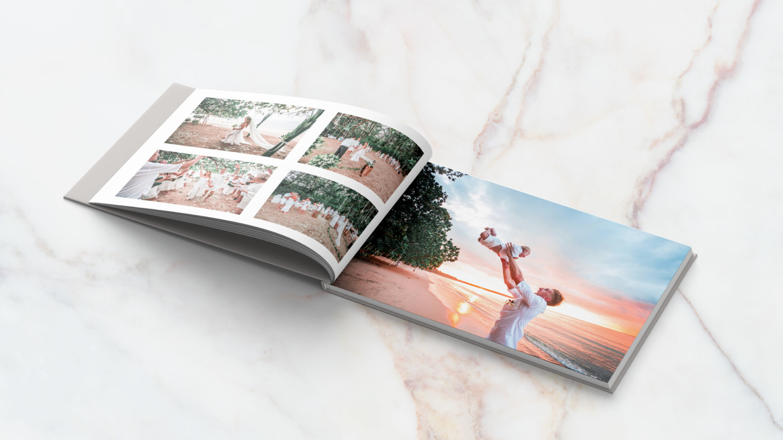 This is an internal view of the landscape photo book