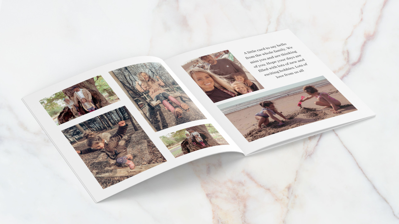 This is an internal view of the softcover photo book