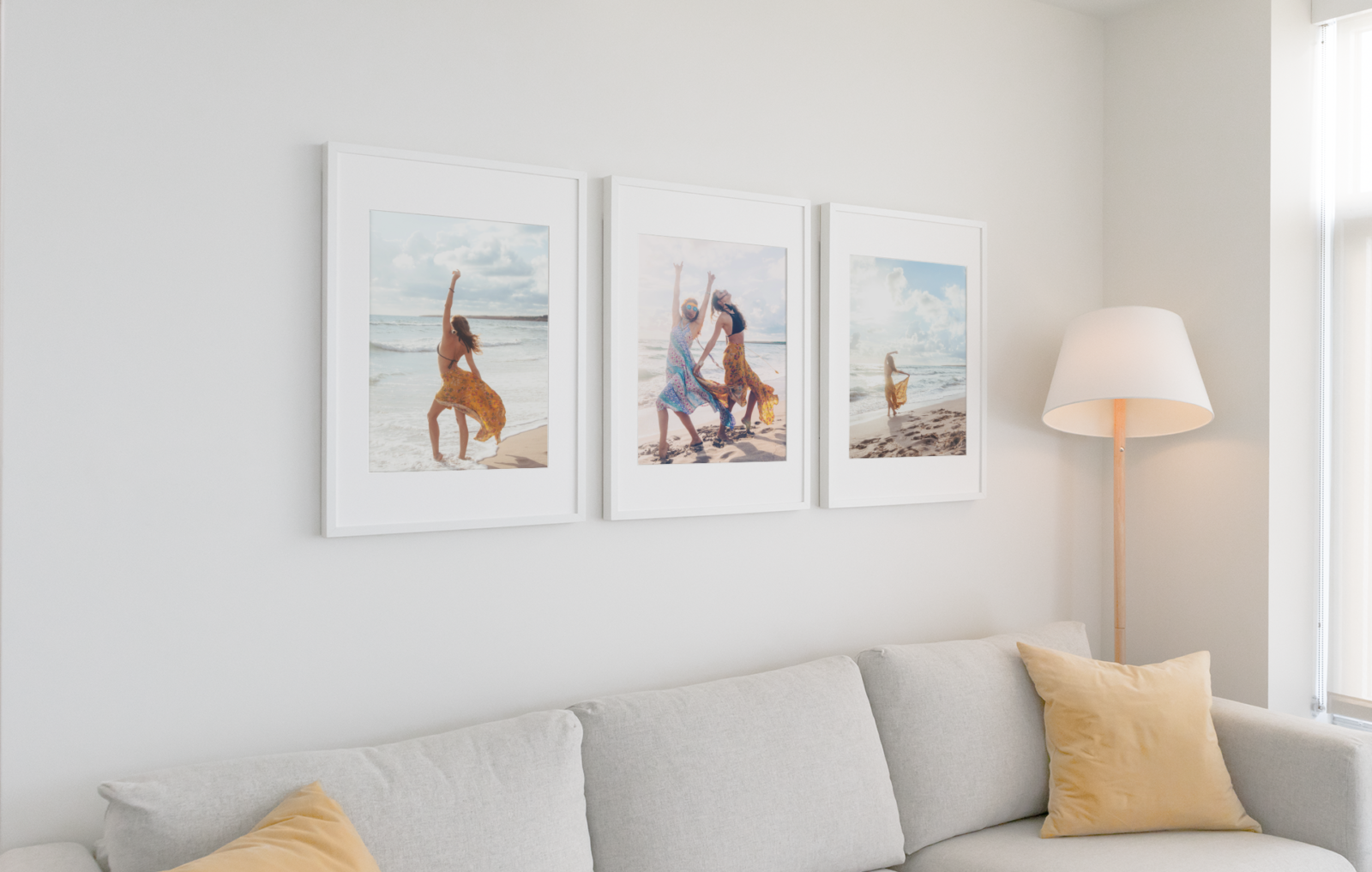 A2 Photo Print Posters displayed in frames
